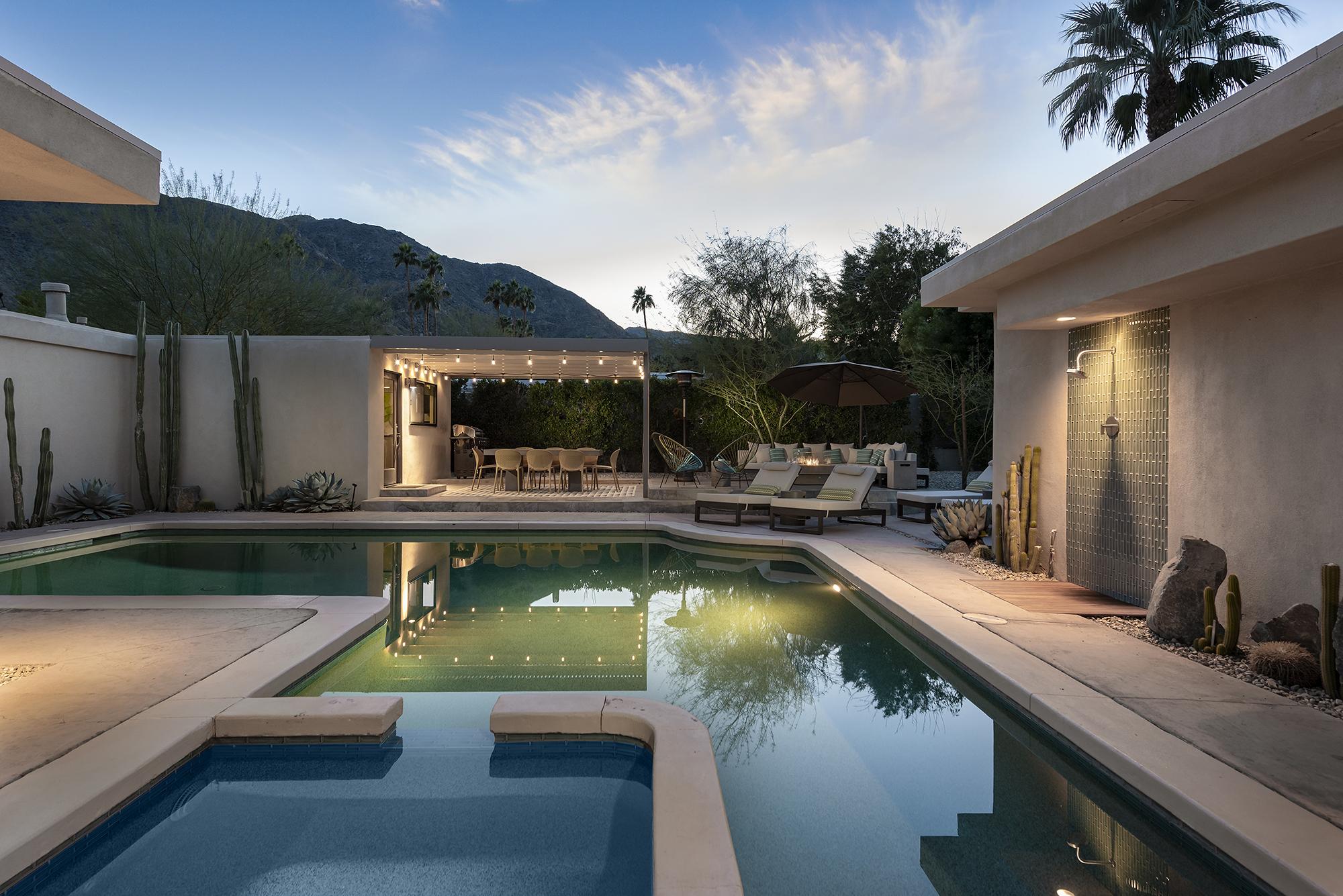 Resort Like Pool at Twilight